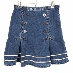 Louie Anthropologie Nautical Jean Skirt